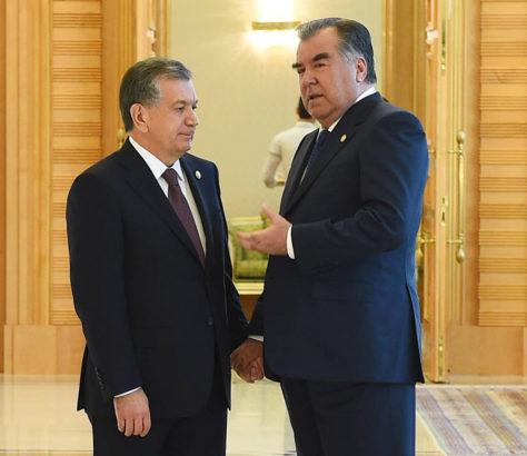 Présidents Ouzbek Tadjik Chavkar Mirzioïev Emomalii Rahmon 18 Septembre New York