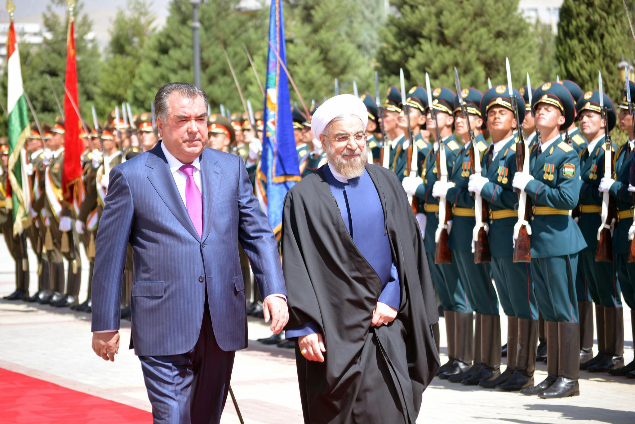 Hassan Rohani Emomalii Rahmon Tadjikistan Iran Visite