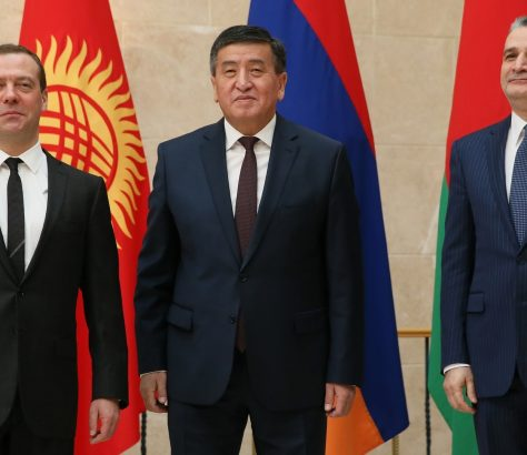 Sooronbaï Jeenbekov Dmitri Medvedev Tigran Sargsyan