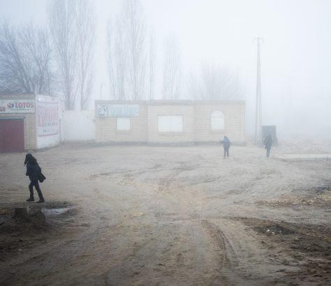 Noukous Ouzbékistan Brume Ecole