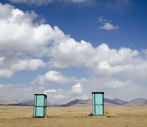 Toilettes Nomades Kirghizstan W.C. Son Koul Lac
