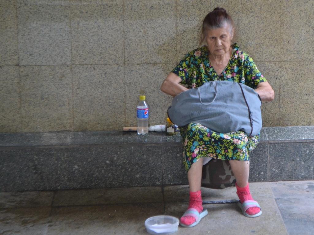Mendiant Tadjikistan Douchanbé Valentina