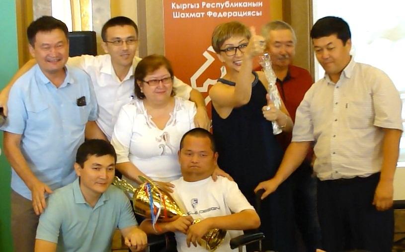 Sport Jeu Echecs Kirghizstan Mobilité réduite Tournoi