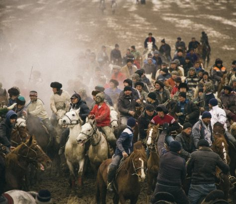 Kopkari Ouzbékistan Jeu Sport Cheval Equestre