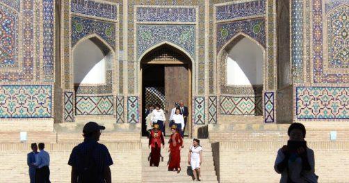 Ouzbékistan Boukhara Délégation Turkménistan Visite