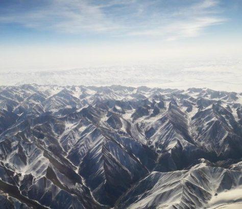 Montagnes Kirghizstan Survol Avion