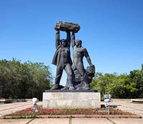 Mineurs Kazakhstan Statue