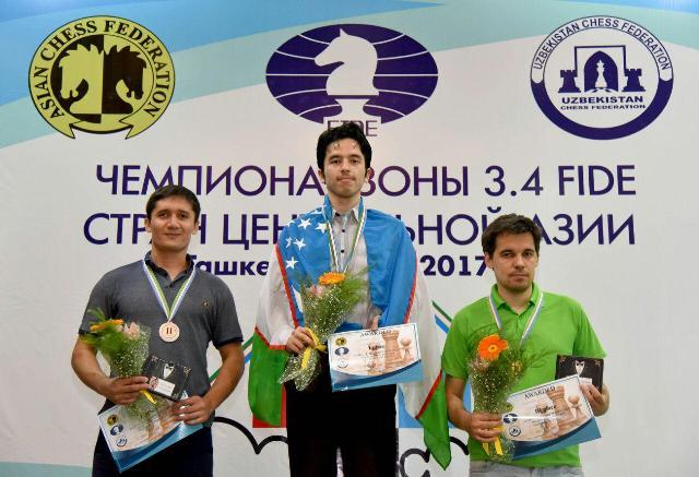 Echecs Sport Jeu Tadjikistan Podium Mohammed Husseinhodjaïev