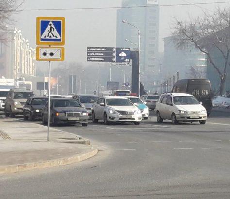 Almaty Kazakhstan Voitures Centre Froid Hiver