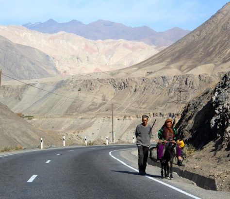 Khudjand Tadjikistan Douchanbé Route Ane Passants