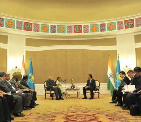 Ministre Narendra Modi Visite Kazakhstan