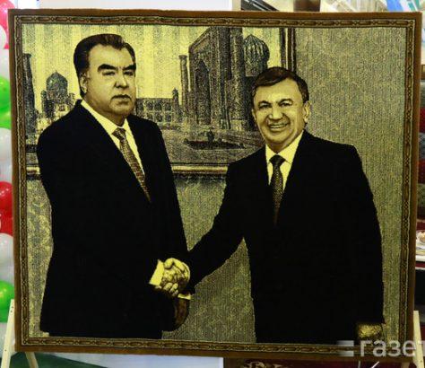Présidents Emomali Rakhmon Chavkat Mirzioïev