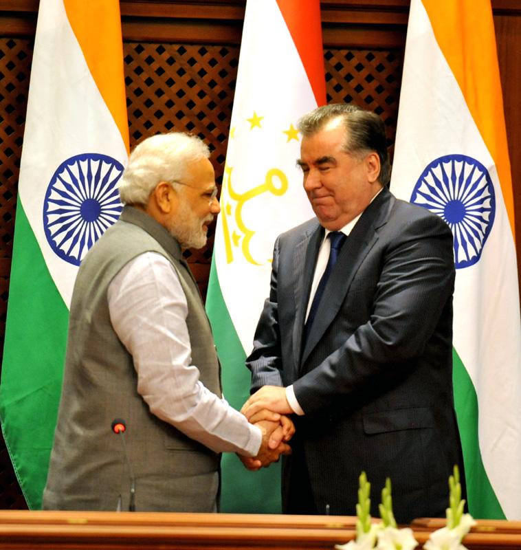 Narendra Modi Emomali Rakhmon Président Tadjikistan