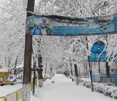 Djalalabad Kirghizstan Parc Piscine Neige