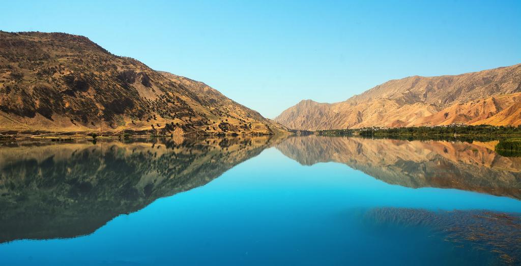 Le Piandj, à la frontière entre l'Afghanistan et le Tadjikistan.