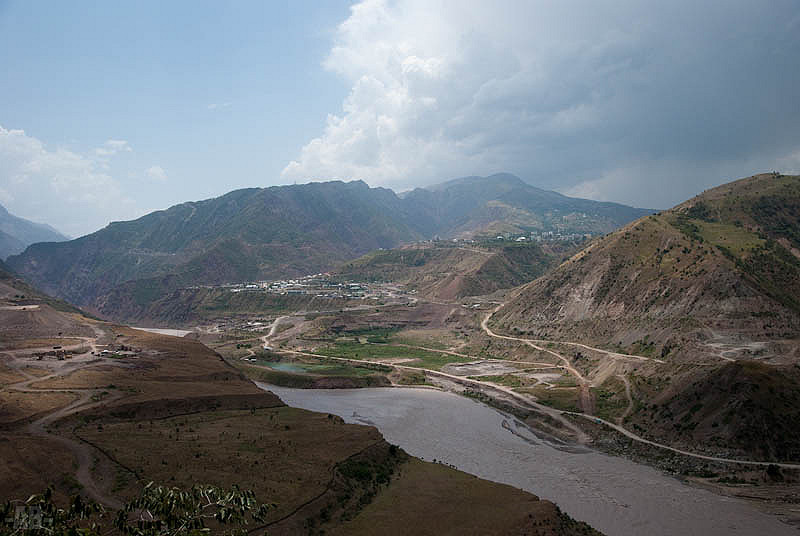 Vakhch, fleuve, Kirghizistan, Tadjikistan
