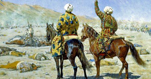 Peinture Vasily Vereshchagin Asie centrale Russie Révolte