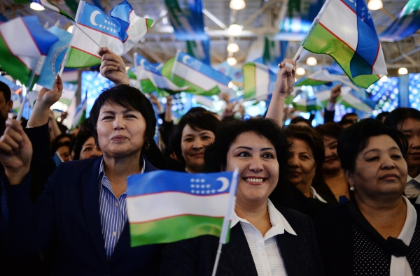Ouzbékistan Drapeau Femmes Politique