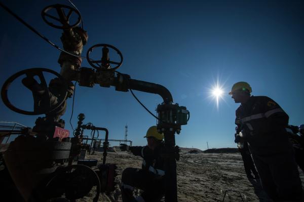 Russie Lamalie Forage pétrolier Pétrole