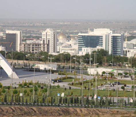 Achgabat Turkménistan Ville Banlieue Immeubles