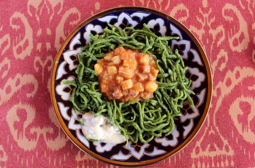 Ouzbékistan Khorezm Lagman Nourriture Plat