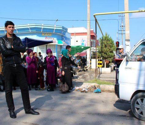 Marguilan Ouzbékistan Arrêt Bus