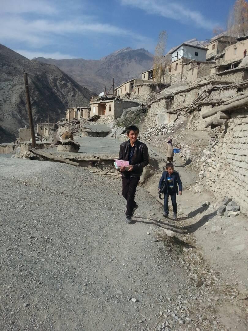 Voru Tadjikistan Village Montagne Pauvreté Route Chemin