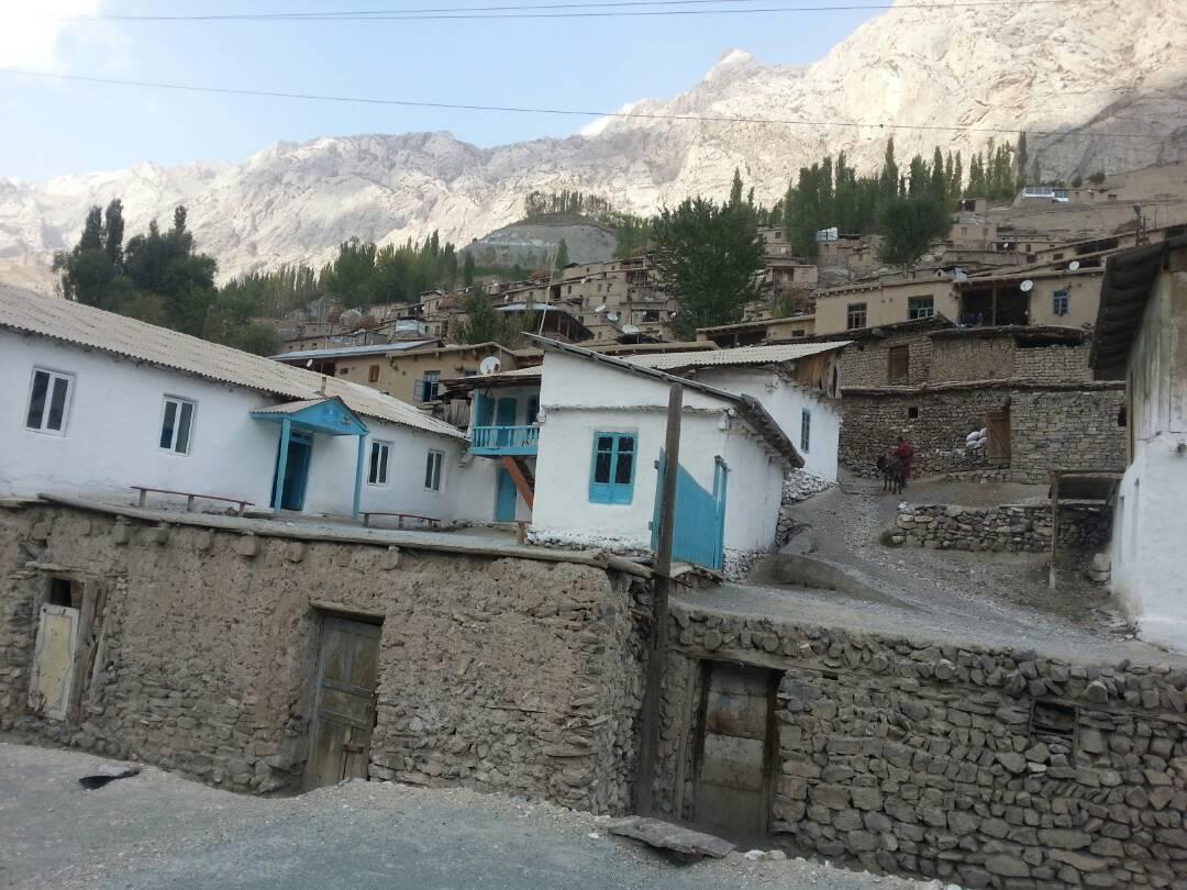 Voru Tadjikistan Village Montagne Pauvreté Ecole