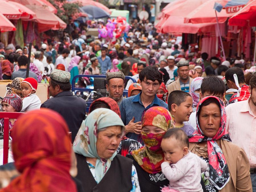 Bazar Hotan Xinjiang Région ouïghoure
