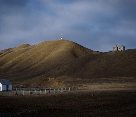 Cimetière au Kirghizstan