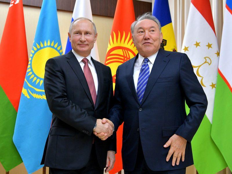 Présidents Poutine Nazarbaïev Sommet