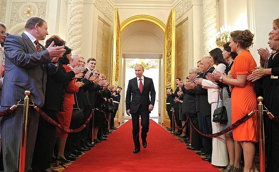 Poutine Investiture Président Russie
