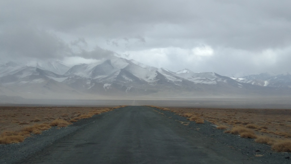 Tadjikistan Route Mourghab Proximité Lac Karakoul