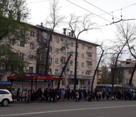 Arrêt Bus Grève Bichkek