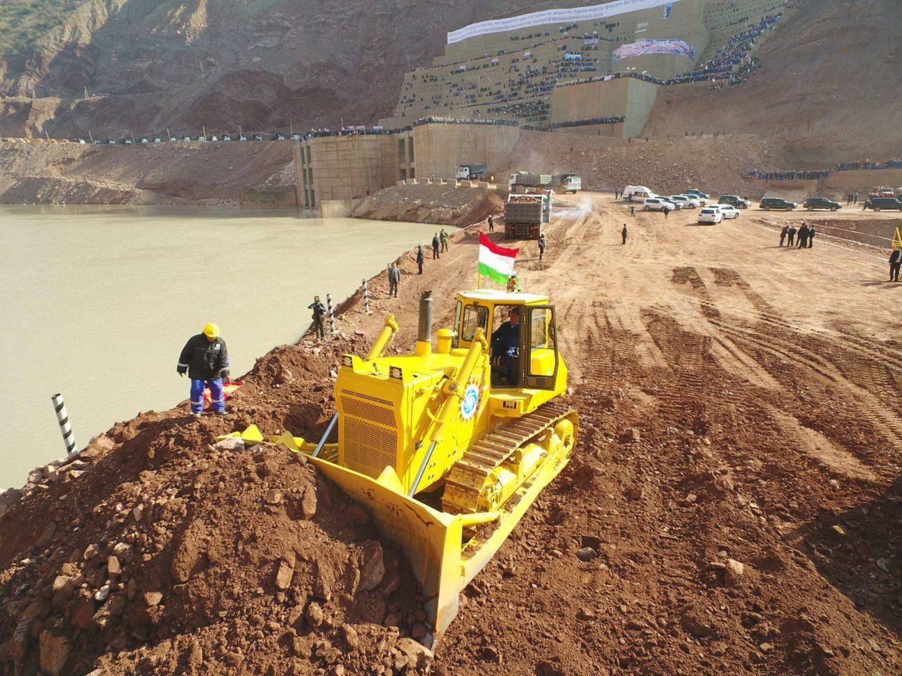 Chantier Barrage Rogun Tadjikistan