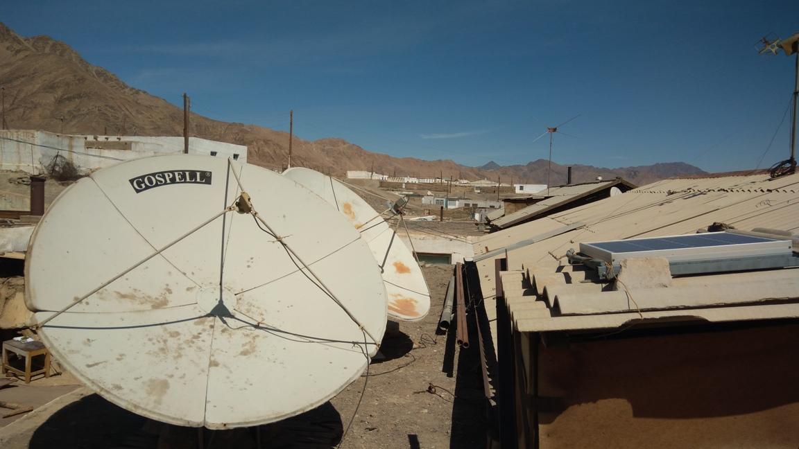 Paraboles Satellites Panneaux Toits Maisons Mourghab