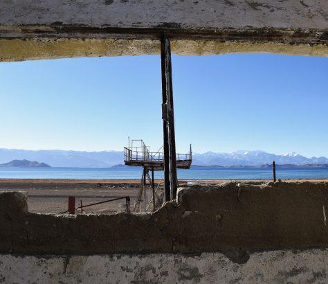 Tadjikistan, Kara-Koul, ruines, lac