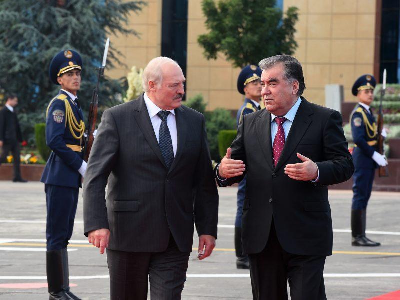 Alexandre Loukachenko Emomalii Rahmon Visite Tadjikistan Biélorussie