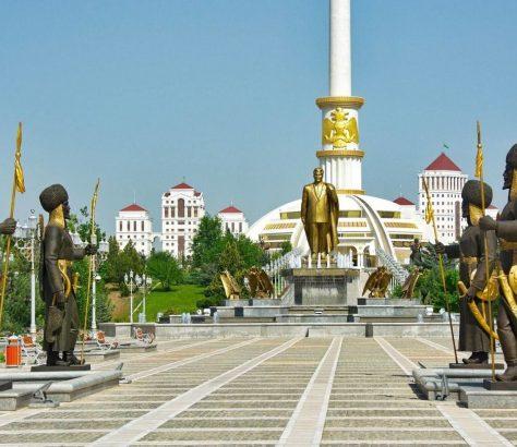 Parc Indépendance Achgabat Capitale Turkménistan