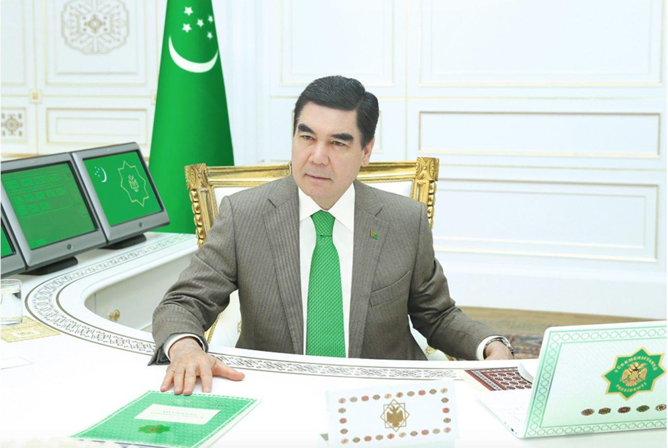 Président Gourbangouly Berdymoukhamedov Bureau Photo Une Médias