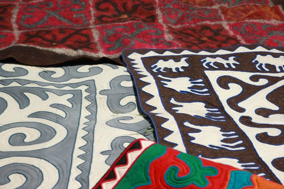 feutre tapis Kirghizistan At-Bashy