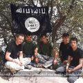 Tadjikistan Terroristes Etat islamique Drapeau Cyclistes