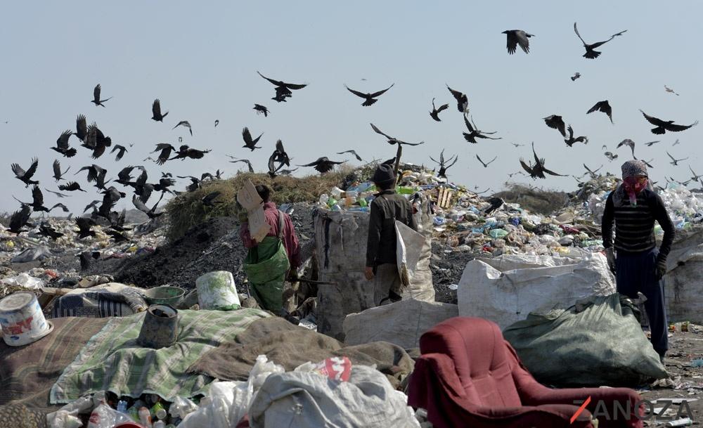 Bichkek Déchets Décharge Environnement Kirghizstan