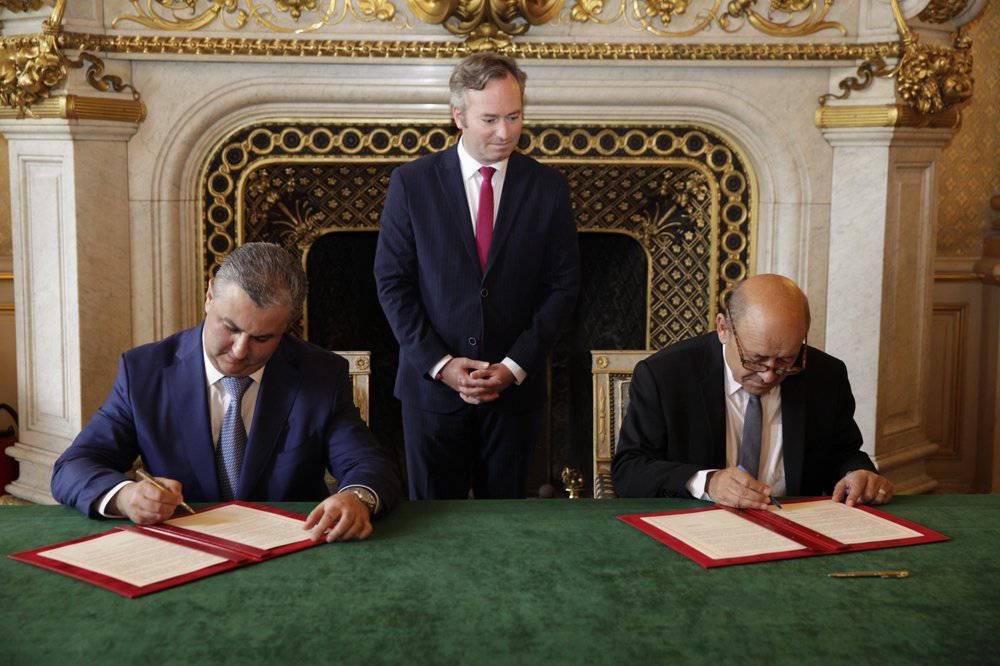 Soukhrob Kholmouradov Jean-Baptiste Lemoyne Jean-Yves le Drian Commission Mixte Ouzbékistan France