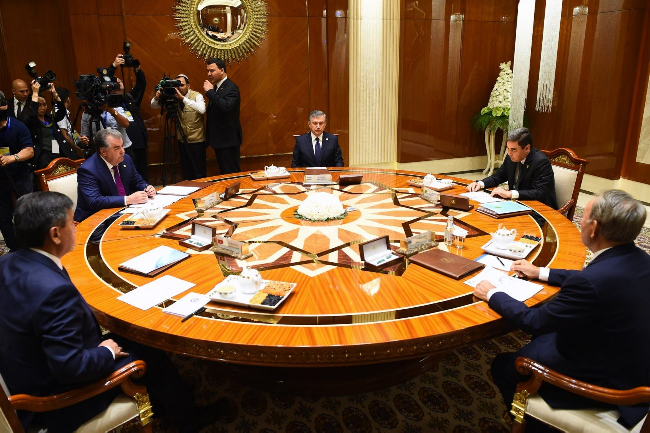Chefs États Asie Table Avaza Turkménistan Mer Aral
