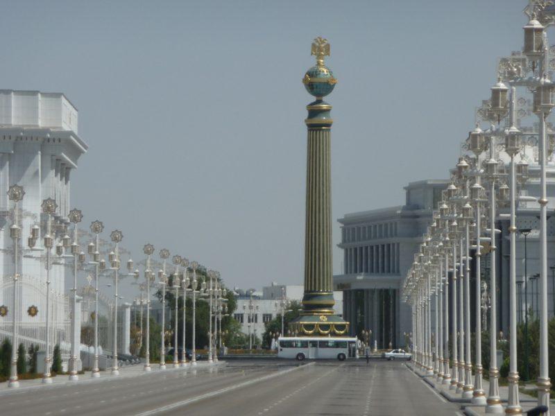 Achgabat Turkménistan capitale avenue ville architecture
