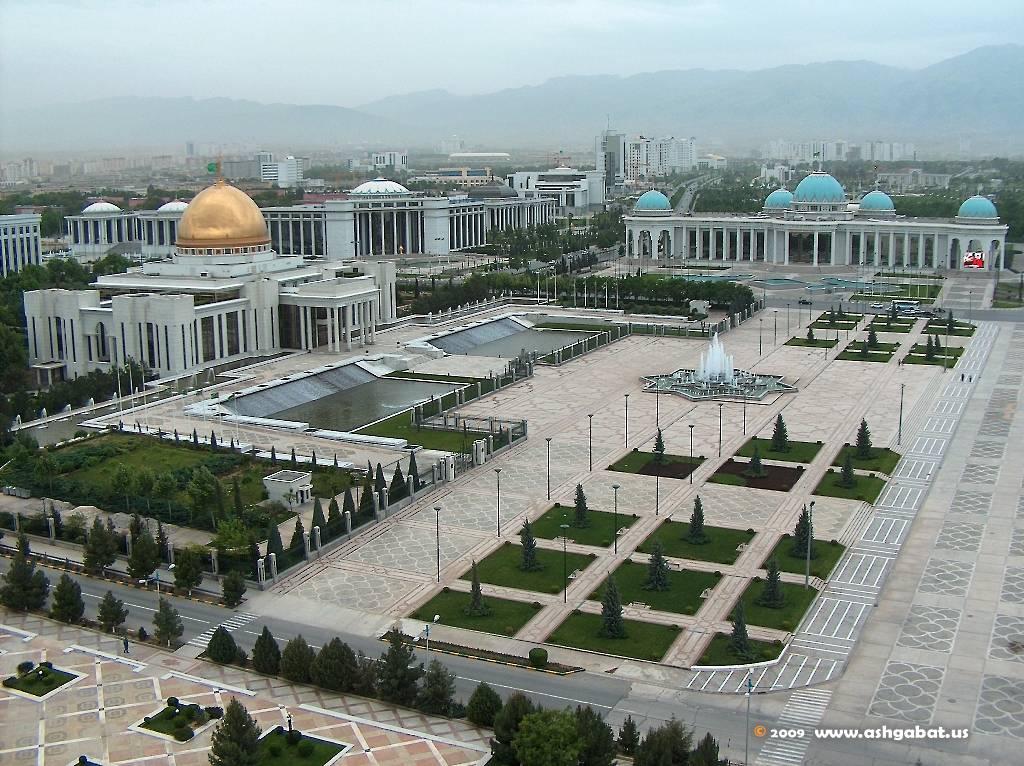 Vue Achgabat Capitale Turkménistan