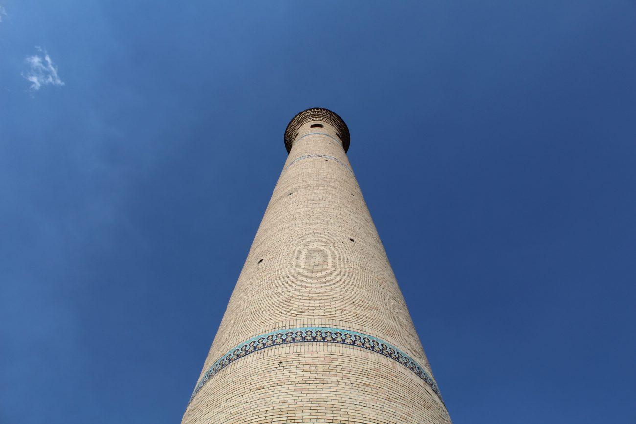 Un des minarets du complexe de Hast-Imam à Tachkent où se trouve la Direction du culte musulman de l'Ouzbékistan