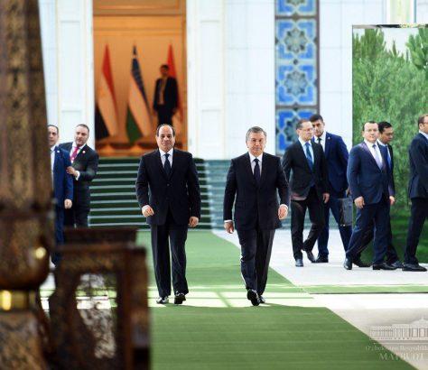 Abdel Fattah Al-Sissi Chavkat Mirzioïev Visite Egypte Ouzbékistan Président