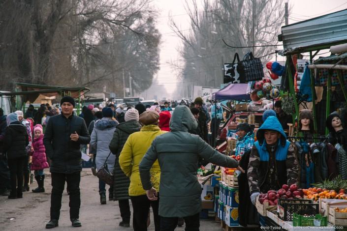 Jarkent Kazakhstan Ville Frontière Chine Marché